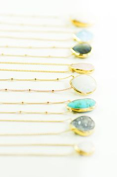 Alohanani necklace - rainbow moonstone gold necklace, www.kealohajewelry.com