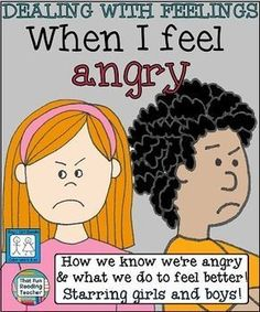 When I Feel #Angry is a children's story about recognizing, expressing and managing anger. Male and female versions are included, in color and b&w! $