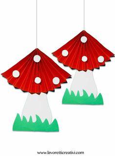 Mushroom craft idea for kids – Crafts and Worksheets for Preschool,Toddler and Kindergarten Kids Crafts, Toddler Crafts, Preschool Crafts, Diy And Crafts, Arts And Crafts, Paper Crafts, Autumn Crafts, Spring Crafts, Diy Niños Manualidades
