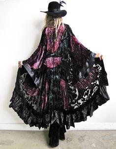 rock goddess velvet kimono