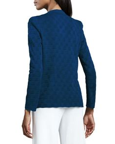 T9NWL Misook Lilly Textured Jacket, Petite