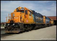 GP38-2's 1802 & 1801, teamed up with GP40-2 2202 are captured Saturday May 31st along Cochrane Shops' 3 track in the process of getting prepped for June 1st's 313 to Kapuskasing.