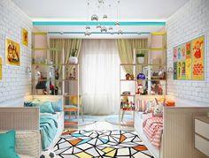 Детская комната для двоих разнополых детей #дизайнинтерьера #дизайн_интерьера…