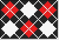 True Argyle- use for crochet pattern? Tapestry Crochet Patterns, Bead Loom Patterns, Cross Stitch Patterns, Cross Stitch Designs, Knitting Charts, Knitting Stitches, Knitting Patterns, Cross Stitching, Cross Stitch Embroidery