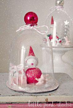 DIY Wine Glass Snow Globe