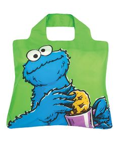 Take a look at this Green Cookie Monster Bag by Sesame Street Collection on @zulily today!