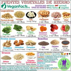 Alimentos vegetales ricos en hierro por cada 100 gramos en la dieta vegana (100% vegetariana). Nutrición vegana, alimentación y veganismo - Todo lo que debes saber para adoptar una dieta vegetal, vegana o 100% vegetariana. Frutas, verduras, hortalizas, legumbres, cereales, frutos secos, proteínas, vitaminas...