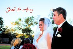 My cousin Josh and his BEAUTIFUL bride Amy