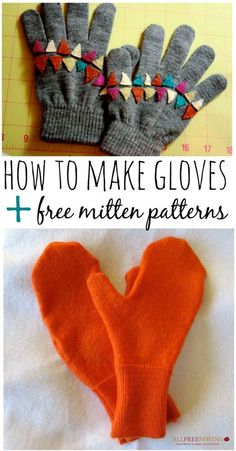 How to Make Gloves + 6 Free Mitten Patterns | Get ready for sweater weather with this list of free glove and mitten patterns!