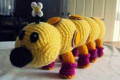 Wiggler Mario Bros Amigurimi - Free Crochet Pattern