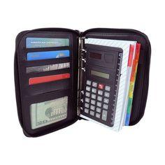 Personal Organizer Planner DALIX w/ File Divider Calculator Zippered Office Home #DALIX