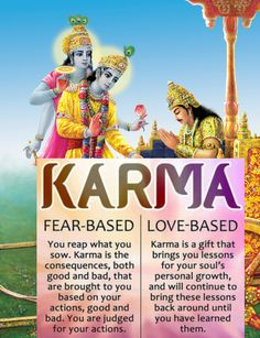 Thoughtful lines Think once . What you wanna seen in ur life . What u want to teach ur children About Karma. Karma Pictures, God Pictures, Radha Krishna Love Quotes, Lord Krishna Images, Krishna Pictures, Hindu Quotes, Spiritual Quotes, Spiritual Meditation, Spiritual Manifestation