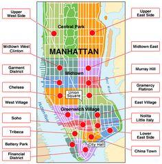 Barrios de Manhattan - Zonas más importantes de Nueva York