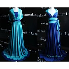 Reversible Infinity Dress Convertible Wedding Bridesmaid Evening Prom Dress Plus Size Woman Dresses Christmas Party Dress ($160) found on Polyvore