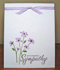 Simple Sympathy by peebsmama - Cards and Paper Crafts at Splitcoaststampers