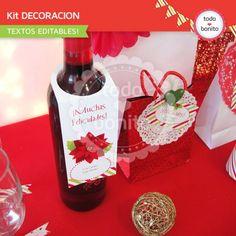 Navidad verde y rojo: kit decoración imprimible imprimibles navidad, para imprimir, papel, rojo, printabl, idea navidad, navidad verd
