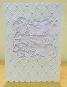 'Especially For You' - Verse Die from the Tattered Lace range. Available exclusively from hobbycraft.