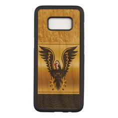Comic strip Black and Gold eagle with gold foil Carved Samsung Galaxy S8 Case - diy cyo customize gift idea