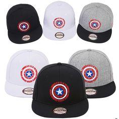 Mens Marvel Avengers Civil War Captain America Shield Baseball Snapback Hat Caps #Marvel #BaseballSnapbackCapHats