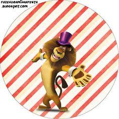 Madagascar 3 Circo – Kit Completo com molduras para convites, rótulos para guloseimas, lembrancinhas e imagens! |Fazendo a Nossa Festa