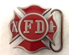Vintage Belt Buckle Fire Department