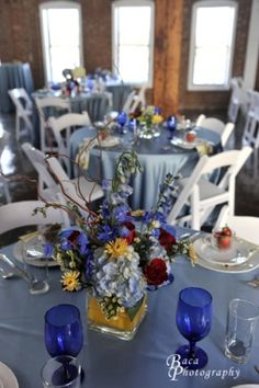 Wedgewood linens at The River Room, Wilmington, NC