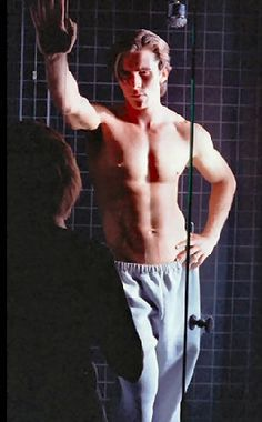 Christian Bale -- for this, I WOULD do windows .. of this shower.... with him in it... taking a shower.