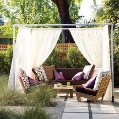 Easy cabana - Patio Ideas and Designs - Sunset