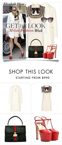 """Get the Look-Elizabeth Olsen"" by goreti ❤ liked on Polyvore featuring CO and Gucci"