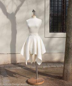 Flax skirt - Square cut by AttitudeBalletShop on Etsy