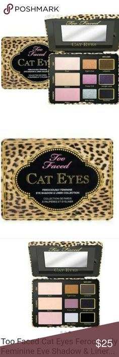 Too faced Cat eye pallet Omg! This is amazing.  Such beautiful colors . Wet to dry colors to use as liners also.  Brand new/ no box Authentic  Never used two faced  Makeup Eyeshadow