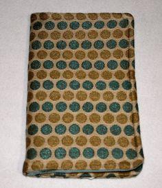 Server Book w/ zipper pouch  Blue & Gold Dots by HandmadeIslandMV