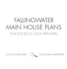 Fallingwater main house plans. 1935 Frank Lloyd Wright