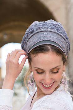 GORGEOUS Heather Tichel, SINAR Headscarf, Hair Snood, Head Scarf, Head Covering, Jewish Headcovering, Scarf, Bandana, Apron http://etsy.me/2CrReXJ #accessories #hat #silver #wedding #passover #gray #tichel #headcov#tichel#headscarf