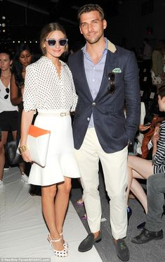 Olivia Palermo and Johannes Huebl look good at the Rachel Zoe Spring/Summer 2014 show at Mercedes Benz Fashion Week