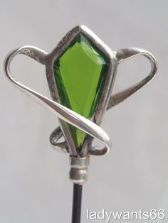 A charles horner antique sterling silver & jewelled hat pin chester 1907 pat pin