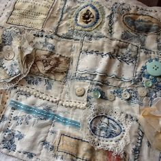 Blue Toile Samplers