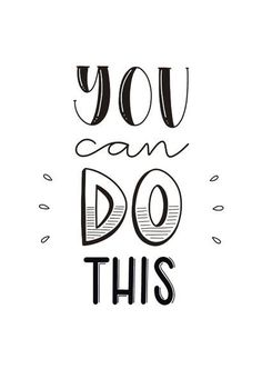Handlettering Inspiration — You can do this. Succes kaart met de tekst you can do this in handletteringstijl Calligraphy Quotes Doodles, Doodle Quotes, Hand Lettering Quotes, Lettering Styles, Brush Lettering, Bullet Journal Quotes, Bullet Journal Ideas Pages, True Quotes, Funny Quotes
