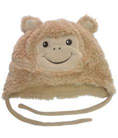 Monkey Patch Beige Fur Cap