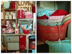 Turquoise & Red !!! My kitchen colors !!!