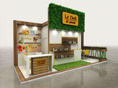 Design for Eco-Cosmetics Trade Show Design, Display Design, Exhibition Stall Design, Exhibition Stands, Exhibit Design, Exhibition Ideas, Kitchen Layout, Kitchen Design, Layout Design