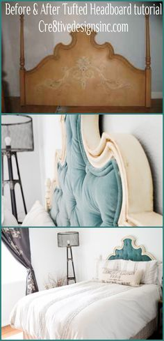 The easy, cheating tufted headboard tutorial