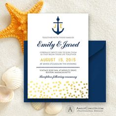 Printable Nautic Wedding Invitation Navy Anchor & by AmeliyCom https://www.etsy.com/listing/237414685/printable-nautic-wedding-invitation-navy