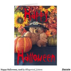 Happy Halloween, card. A percentage from sales is donated to Multiple Sclerosis (MS) Research. Blank inside card for your own message. If you would like any of my pictures adapted for: clothing, home or office accessories, greeting cards, etc, please email me and let me know. We are happy to modify for individual and personalized orders.