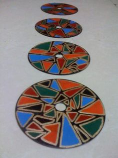 inspiration - recycled cd coasters