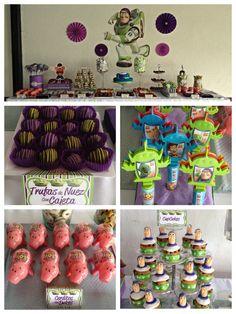 Candy Bar de Buzz Light Year. #candy bar, #candy buffet, #birthday, #boy party, #party, #buzz light year.