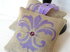 Set of 2 Hand Painted Lavender Sachets by MoniKdesigns on Etsy, $19.00