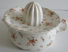 Floral Vintage Juice Reamer Squeezer - would look nice in any kitchen