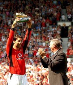 Ruud van Nistelrooy & Sir Alex in 2003