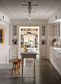 Concrete floors in kitchen